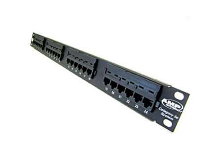 Patch panel 24 port CAT5E AMP