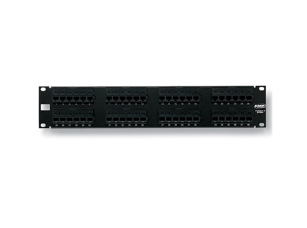 Patch panel 48 port CAT5E AMP